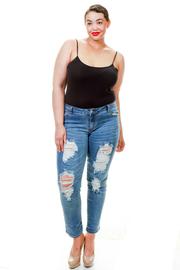 Plus Size Sexy In Denim Distressed Skinny Jeans