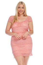 Plus Size Pretty In Laced Mini Tube Dress