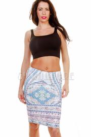 Vintage Printed Midi Skirt