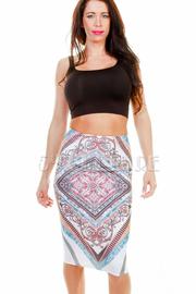 Bohemian Printed Pencil Skirt