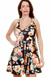 Spring Floral Flared Dress