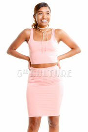 Basic Tank 2-Piece Mini Skirt Set