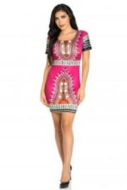 Dashiki Printed Tube Dress
