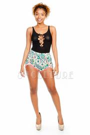 Tropical Printed Mini Shorts