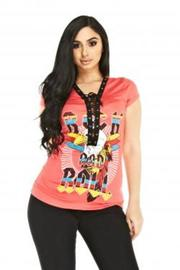Tie Up Rock And Roll Graphic Tee