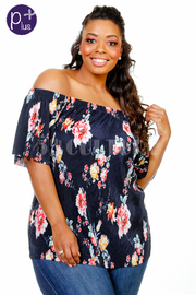 Sexy Spring Floral Off Shoulder Top