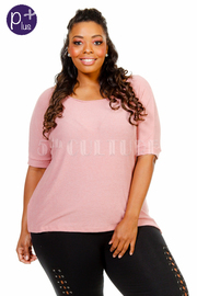 Plus Size Basic Short Sleeved Loose Top