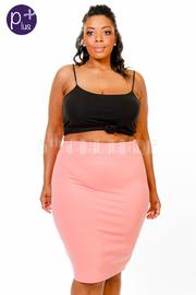 Plus Size Casual Pencil Pastel Skirt