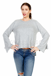 Flared Long Sleeved Top