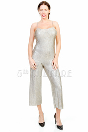 Shimmer Spaghetti Strap Cocktail Jumpsuit