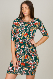 Side Tie  Half Sleeved Midi Dress