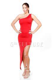 One Shoulder Asymmetric Tube Dress