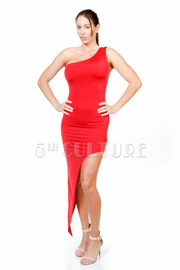 One Shoulder Asymmetric Tube Dress