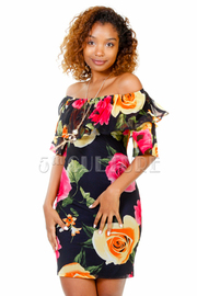 So Stylish In Floral Tube Dress