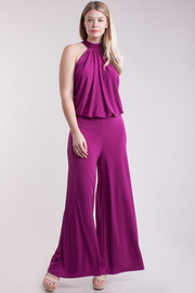 Plus Size Casual Palazzo Solid Jumpsuit