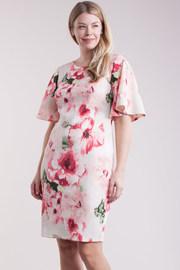 Plus Size Floral Printed Tube Midi Dress