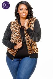 Plus Size Wild In Style Zipper Down Jacket