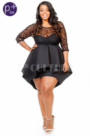 Plus Size Gothic Design & Ponti Skater Mini Dress