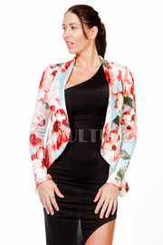 Professional Career In Bloom Floral Blazer