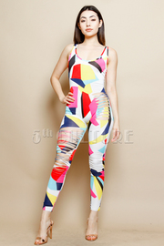 Colorblock Sliced Knee Side Fit Jumpsuit