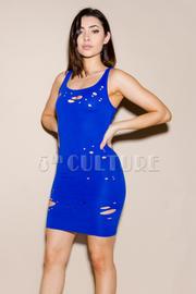 Distressed Basic Mini Tube Dress