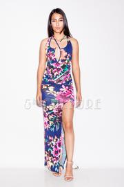Cross Straps Floral Maxi Spring Dress