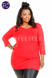 Plus Size Cutout Summer Basic Top