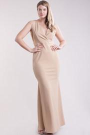 Plus Size Simple But Elegant Deep V Maxi Dress