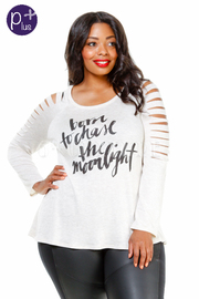 Plus Size Sliced Sleeved Moonlight Top