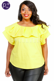 Plus Size Ruffled Night Out Top