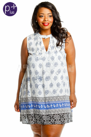 Plus Size Bohemian Printed Tunic Dress