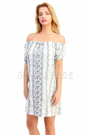 Off Shoulder Summer Boho Tunic Dress
