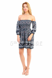 Off Shoulder Unique Spring Tunic Dress
