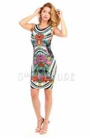 Cute Jungle Printed Mini Dress