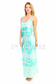 Summer Brocade Maxi Beach Dress
