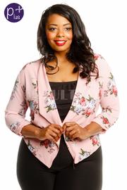 Plus Size Pretty In Floral Printed Casual Blazer