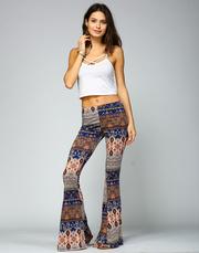 Bohemian Flared Printed Leggings