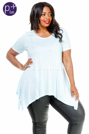 Plus Size Short Sleeved Flowy Top