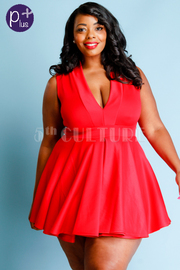 Plus Size Hot Date Mini Skater Dress