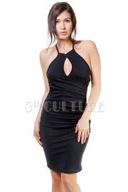 Keyhole Sexy Halter Mini Dress