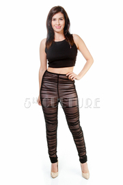 Sexy In Ruched Mesh Lined Pants