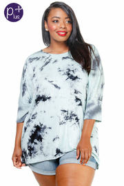 Plus Size Tie Dye Summer Loose Top