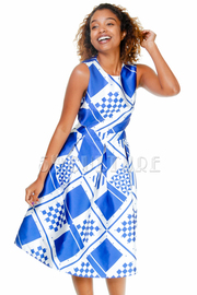 Mixed Squared Flared Dress