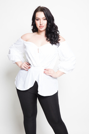 Plus Size Sweetheart Scalloped Peplum Top