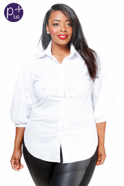 Plus Size Button Down Classic Collar Shirt