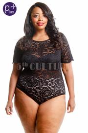 Plus Size Sexy In Laced Bodysuit