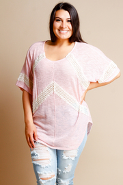 Plus Size Crochet Lined Loose Top