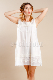 Cute Summer Crochet Detailed Tunic Dress
