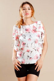 Cute Flowers Printed Casual Top
