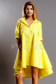 Radiant Hi Lo Button Down Shirt Dress